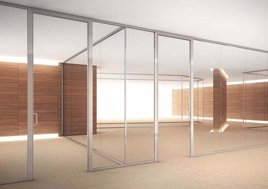 Aluminium frame used office glass wall dividers wall partition types buy glass wall dividers - Readymade partition walls ...