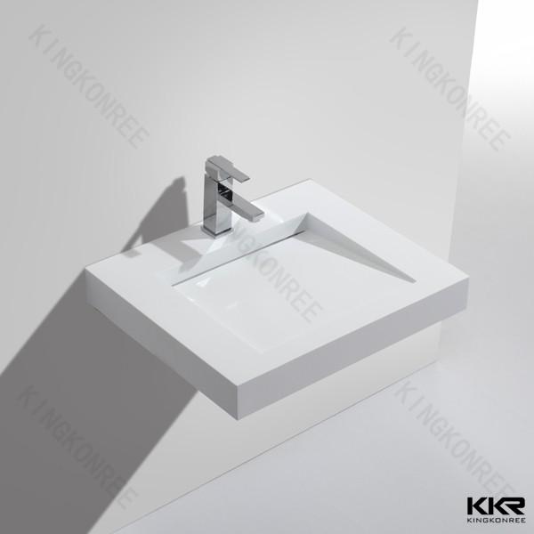 Modern Solid Surface Wash Basin Stone Sink Vessel
