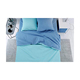 Elegant apartment home use Cerulean Blue Turquoise cotton 100 hand embroidered bed sheet