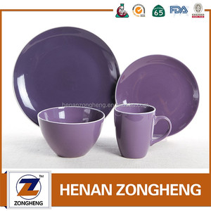 Ceramic dinner set purple kitchenware dinnerware