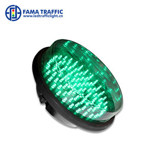 300mm Green Clear lens dotted LED traffic light signal