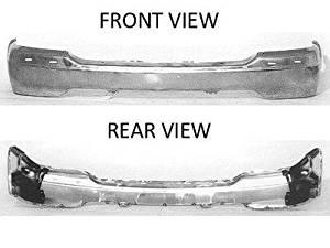 Chrome NSF Front Bumper Face Bar for GMC Sierra, Yukon, Yukon XL