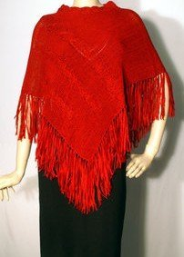 Folio New York Saks Fifth Avenue NEW Red Poncho