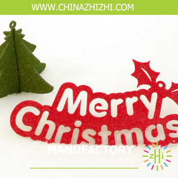 merry christmas words decoration merry christmas sign decoration wool felt material