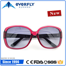 New style custom color and logo acetate fashion sunglass with specialized frame