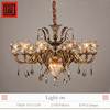 glossy bronze glass chandelier light for indoor Europe style lighting decor with E14 lamps bulb 220V