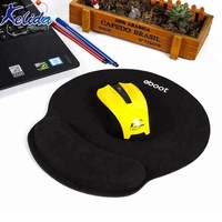 Custom Shape Rubber Memory Foam Wrist Rest Support Mouse Pad