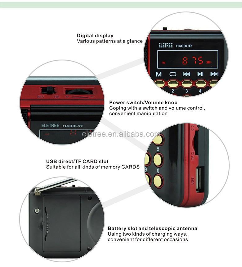 H400ur Digital Mini Fm Radio Receiver Mp3 Player