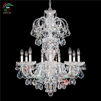 Small Olde World Elegant Clear Crystal Chandelier Lighting