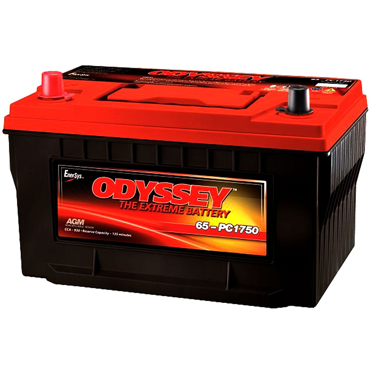 Odyssey Extreme PC1750/65 950CCA Sealed AGM Automotive Start Battery for Emergency response: Police cruisers, fire trucks, ambulances. 4X4 Off-Road/Off-road vehicles - SUVS, Light trucks. Heavy Duty/Commercial Tractor trailers Earth-moving construction equipment, Farm, and Lawnmower Cars and