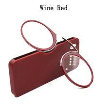 Новый стиль, бамбуковые очки для чтения в носу + от 1,0 до + 3,5, портативные мини-очки для чтения с зажимом и кошельком SOS, чехол A5(Китай)