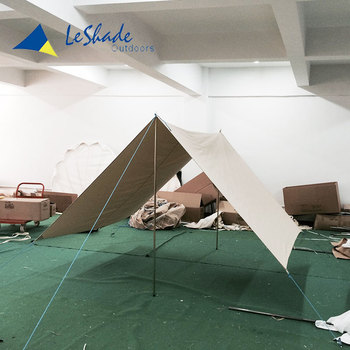 China Quality assured cotton canvas tent awning can be support alone or used with tents