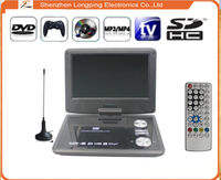 rechargeable portable evd dvd player in car dvd player divx player