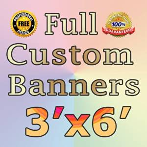 NEW 3'x6' Custom Full Color Vinyl Banners with Grommets Custom Vinyl Banner with True Solvent Ink Signs by BannerBuzz