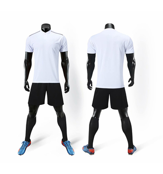 Latest Design Custom Made Team  White Soccer Jersey Your Own Soccer Set