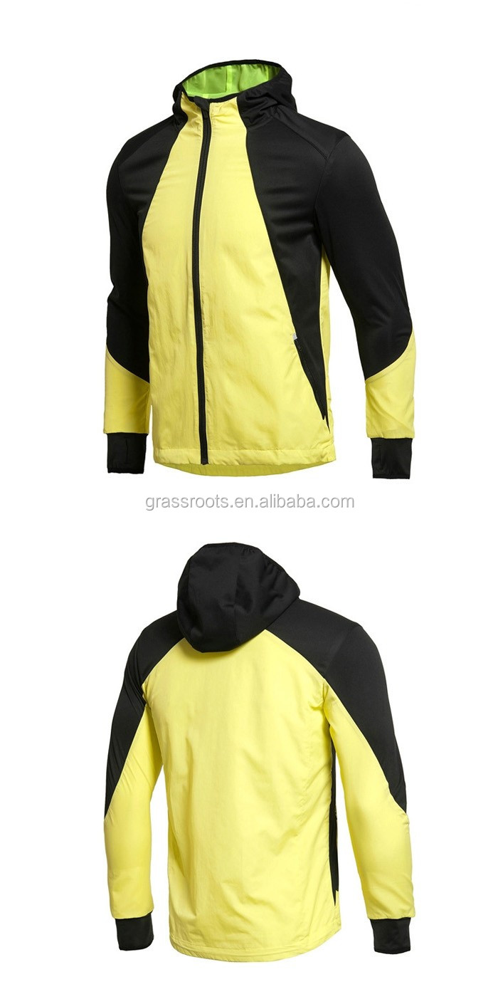 Factory custom  Adult men's warm sports windbreaker jacket coat/wind resistant jacket/wind block jacket
