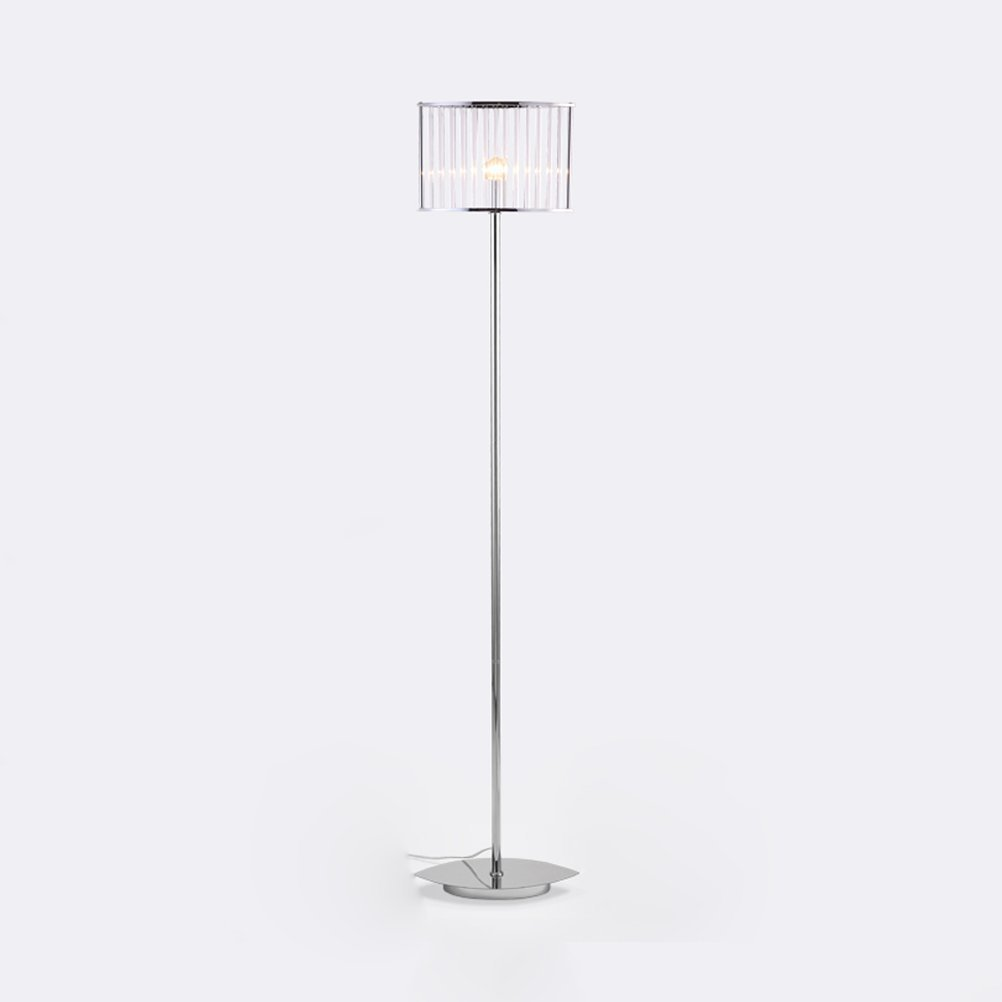WAN SAN QIAN- Postmodern Creative Glass Rod Floor Lamp Living Room Study Lamp Light Luxury Bedroom Bedside Iron Floor Lamp Floor Lamp