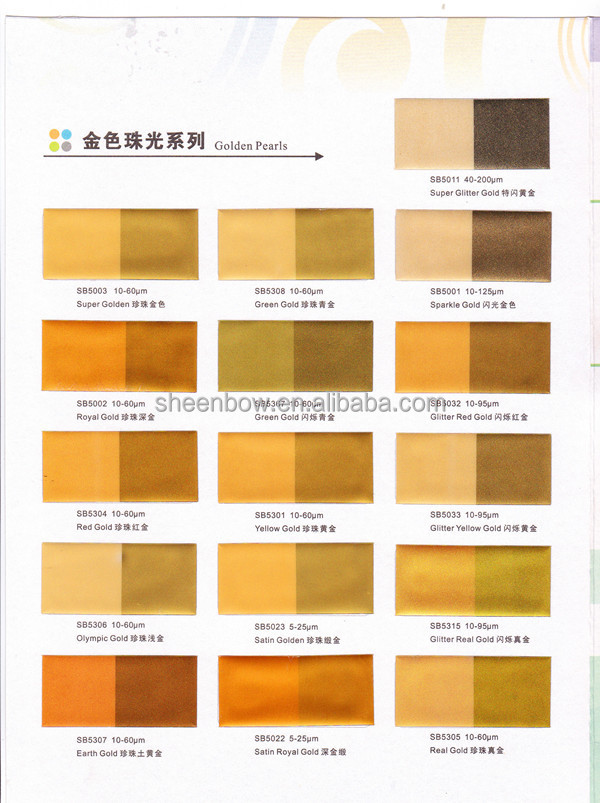 Pearlescent Paint For Interior Walls - SB5368 Super Sparkle Gold ...