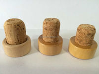 Item HSC006 hot sell cork, with good quality wooden cap cork for wine bottle
