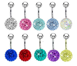 surgical steel luxury diamond magbetic fake piercing belly ring ferido jewelry