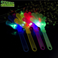 Promotional Cheering Colorful Led Flashing Plastic Hand Clapper /light noise makers