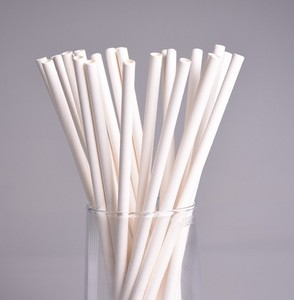 White Biodegradable paper straws food grade eco friendly paper straws food grade paper straws