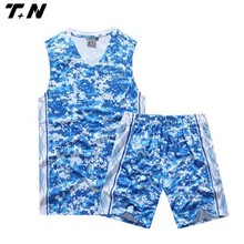 Cheap custom basketball jerseys sublimated blue