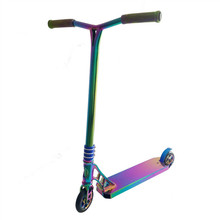 2018 new non foldable rainbow colour scooter high end custom BGP pro stunt kick scooter