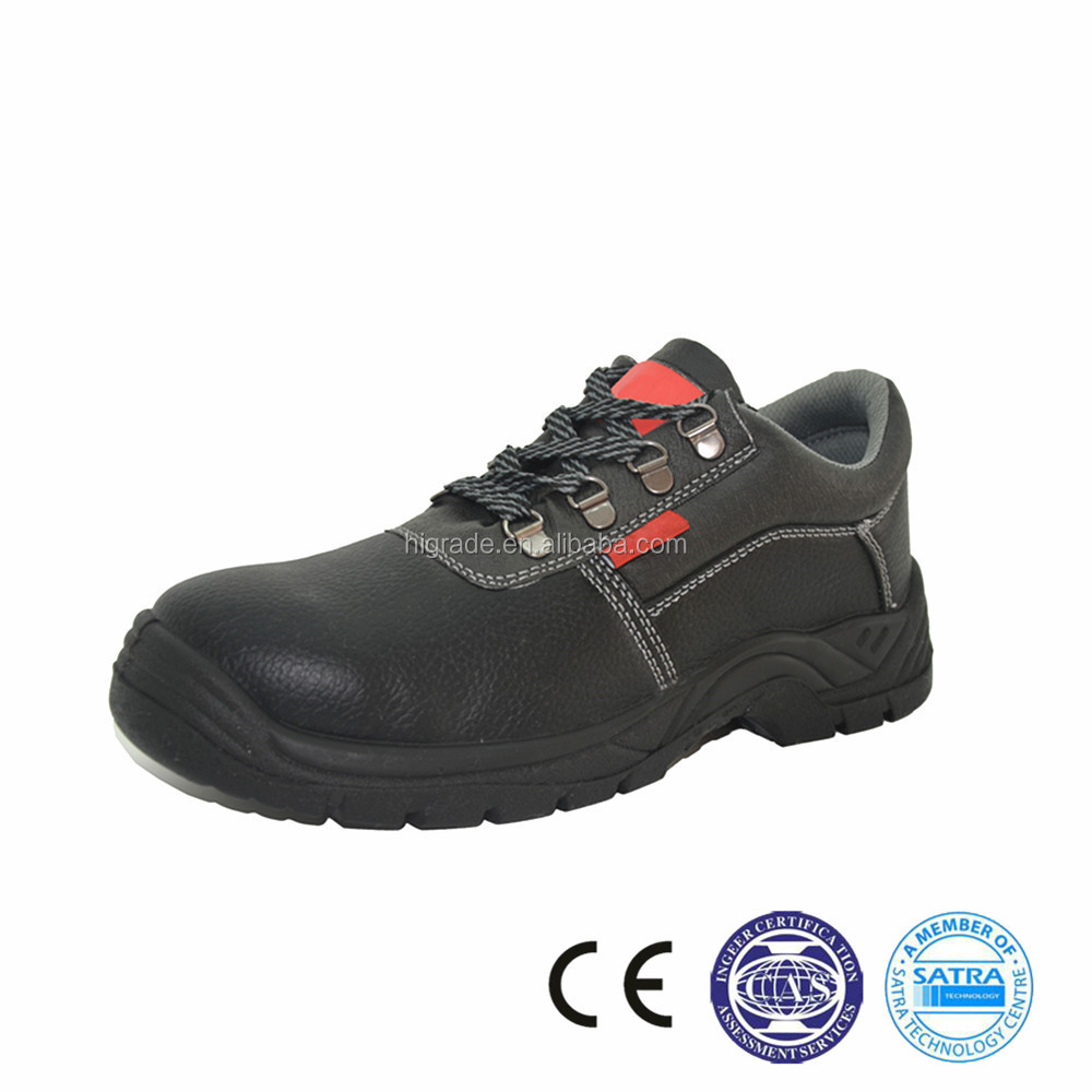 214030 Suede leather safety shoes supplier PU outer sole suede leather labor shoe