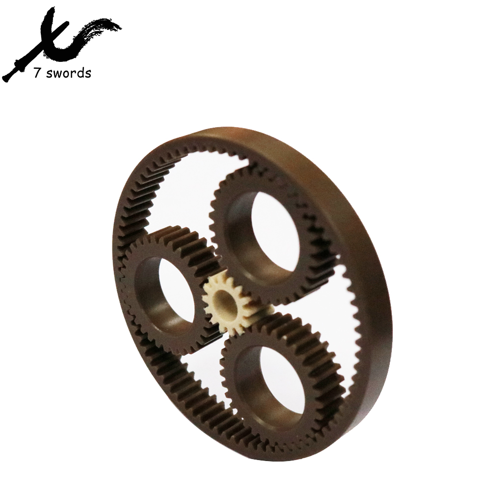 High precision customized reduction gearbox PA POM PEEK planetary gear box