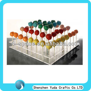 3 tier cake pop tower ,acrylic lollipop display stand,Square plexiglass cake pop stand