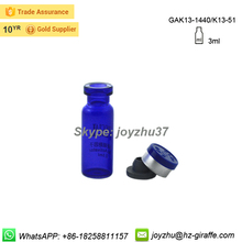 Hot sale 3ml glass vial with flip off cap for antibiotic with butyl rubber stopper