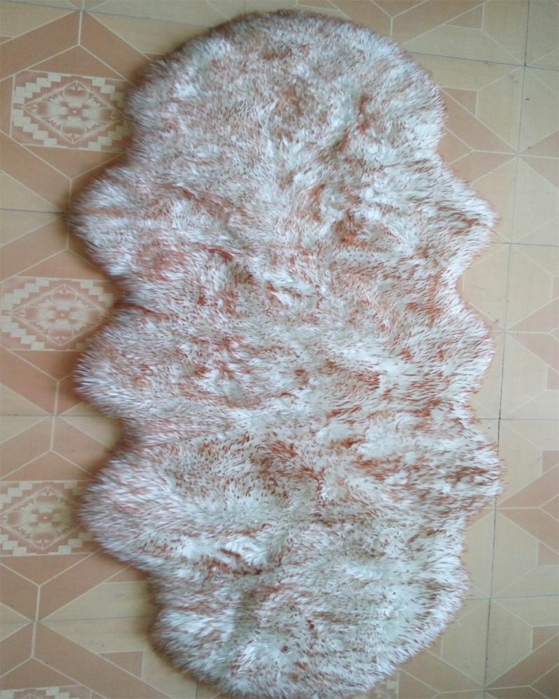 Faux Fur Rug Sheepskin Fur Blanket Floor Mat Carpet Pad