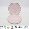 pure pink bottom with gold edge paper plates