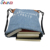 Hot selling taobao light blue denim canvas drawstring backpack bag pattern printed