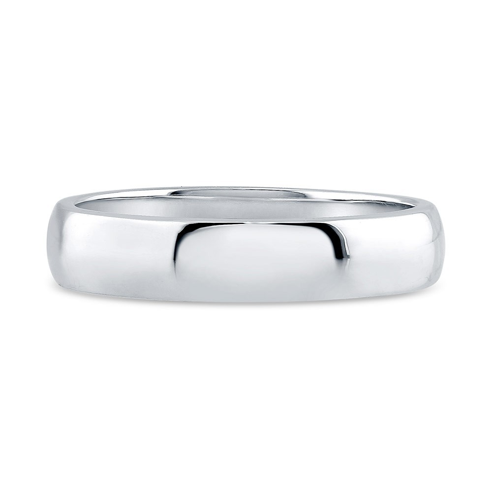 925 Sterling silver simple wedding jewellery Band rings for men 4mm R500427