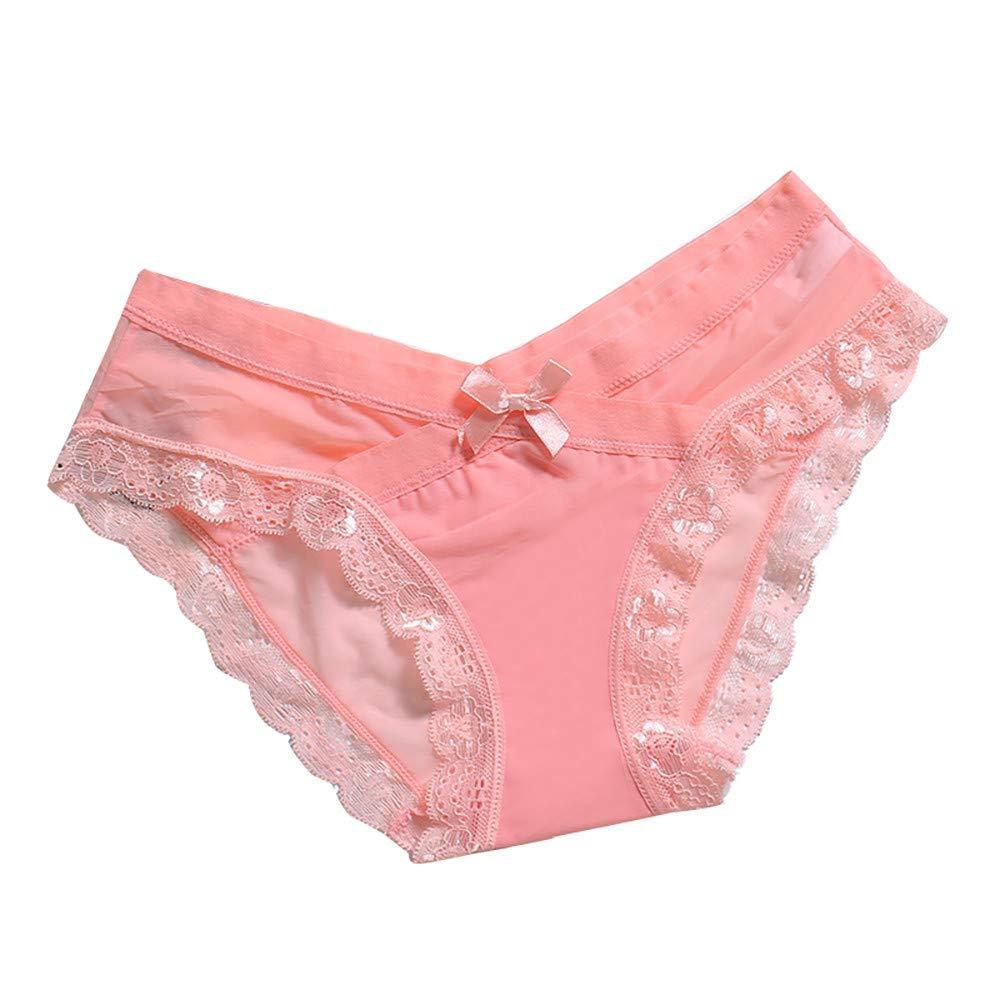 ManxiVoo Women Lace Briefs, Trim Hipster Bowknot Panties Thongs G-String Lingerie Underwear