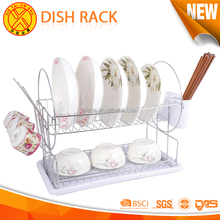 China factory supply simple design wire dish rack kitchen,drying dish shelf