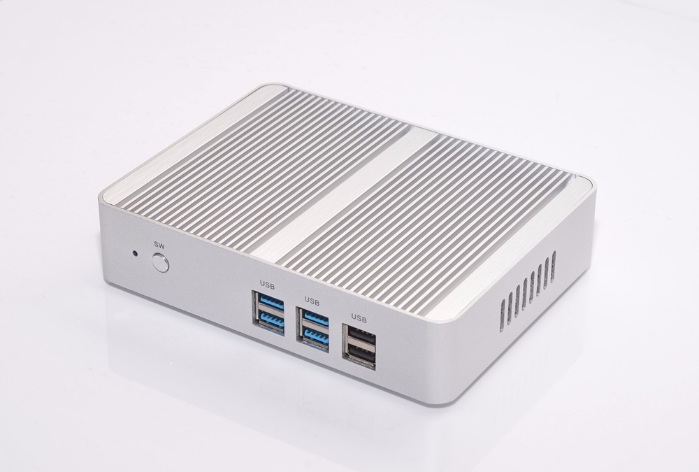 Fanless Mini ITX 5th Gen intel Core i3 mini pc windows 8 sata i3 5005u 2.00 ghz 300M WIFI Dual 4K resolution htpc mini pc 4k