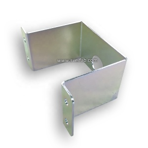 OEM powder coated u shaped sheet metal brackets