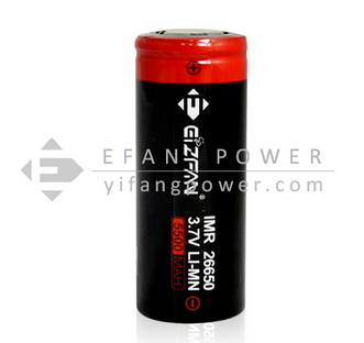 Efan High Drain 26650 5000mAh 60A 3.7V Rechargeable Battery with CE ROHS certificate