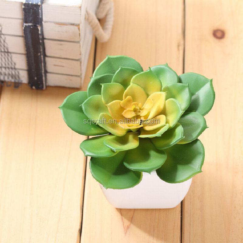 Potted Mini Tree Plastic Plants Artificial Flower Artificial Snow Lotus