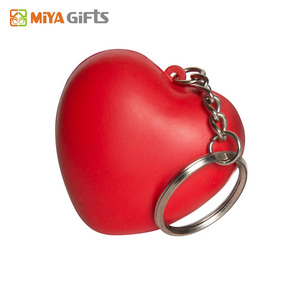 personalized stress tennis toys red love heart shape with keyrings for people toys
