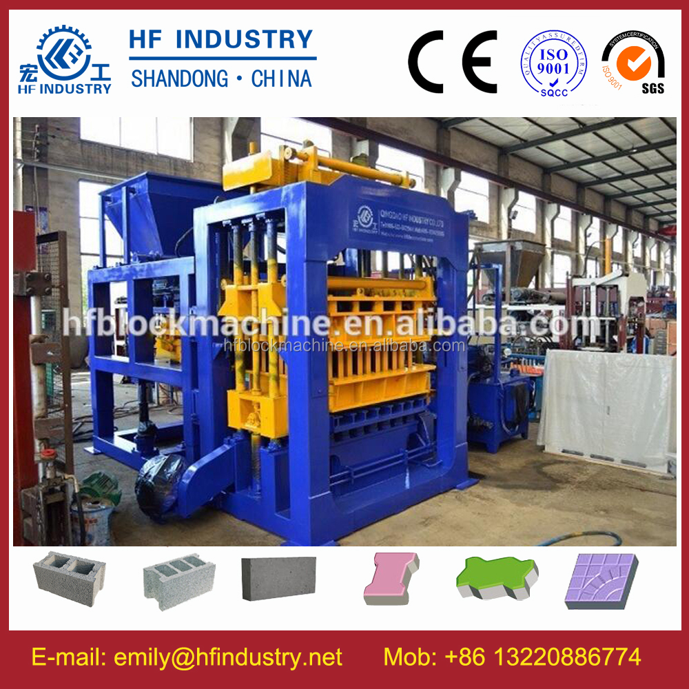 automatic concrete hollow block making machine diamond maxi bevel paver block molding machine
