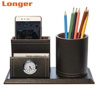 High quality desktop organizer luxury stationer leather office desk set