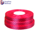 "100% polyester wholesale 1.5cm 5/8""inch red polka dot printed satin ribbon"