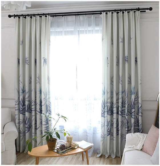 Productos Natural Leaves China Trendy Curtains Printed Landscape, China Suppliers Ready Made Printed Valance Fabric%