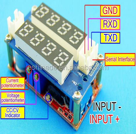 CC//CV Adjustable Step Down Charge LED Panel Voltmeter Ammeter Display Module 5A