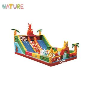 Inflatable fun city exhilarating inflatable children activity center indoor playground