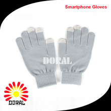 Wholesale Winter Plain Colors Knitted Touch Screen Cycling Gloves